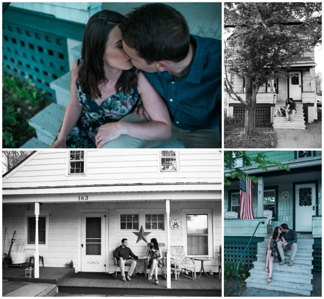 Couple on Family country porch